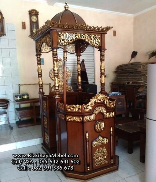Model Mimbar Masjid Ukiran Jepara