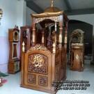 Model Mimbar Masjid Jati Ukiran Jepara