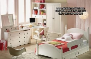 Set Kamar Tidur Anak Minimalis Putih Duco