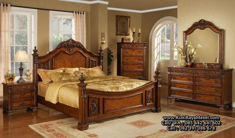 Set Dipan Tempat Tidur Ukiran Klasik Jepara