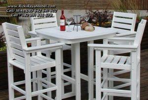 Set Meja Kursi Makan Cafe Bar Outdoor Minimalis